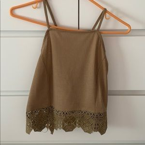 NWT Styles For Less Beige Crop Top